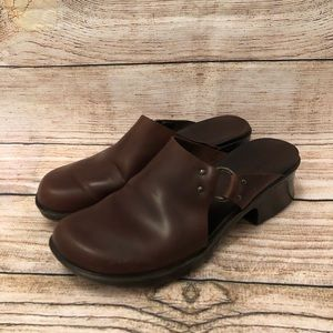 Timberland Leather Mules Clogs Slip On Sandal Shoe